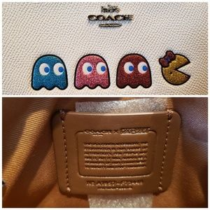 Coach Bags - NEW Coach Leather Wristlet with Ms Pac-Man